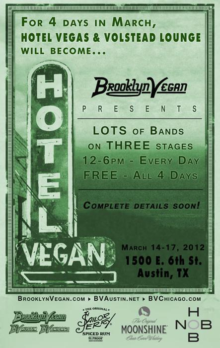 Brooklyn Vegan's Hotel Vegan - Tons of Bands, Three Stages (FREE ALL 4 DAYS)